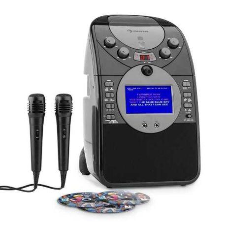 Zestaw karaoke wieża kamera CD USB ScreenStar 2x mikrofon