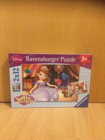 2 Puzzles Princesa Sofia (12 peças) [Novo - ainda embalado]