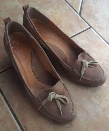 Buty skorzane carmelowe