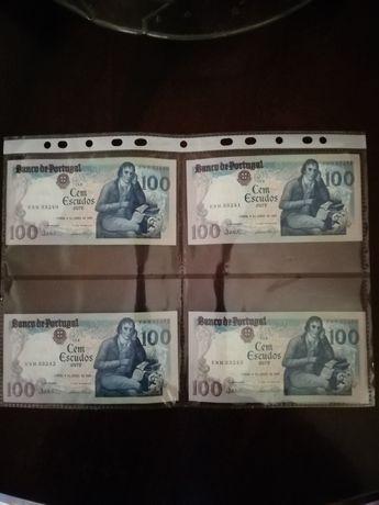 Notas 100 escudos