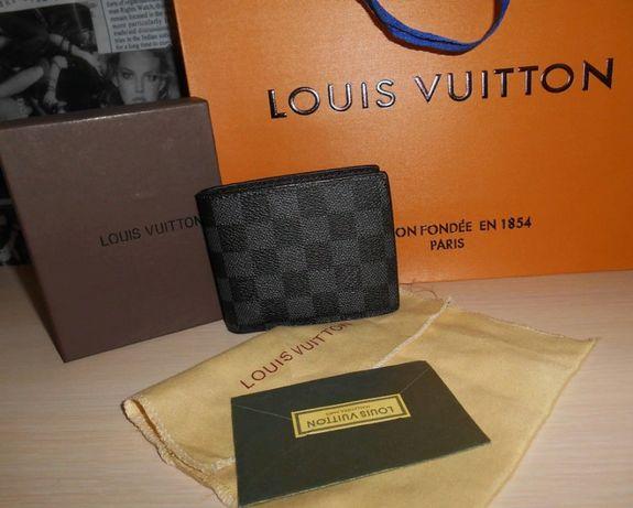 Louis Vuitton portmonetka portfel męski skóra 100%, LV na prezent