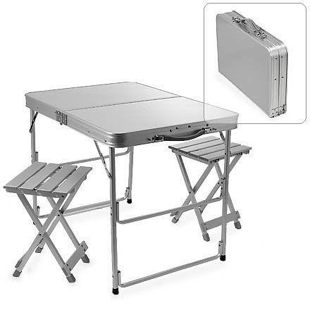 Стол складной 80*60см и 2 алюминиевых стула бесплатная доставка