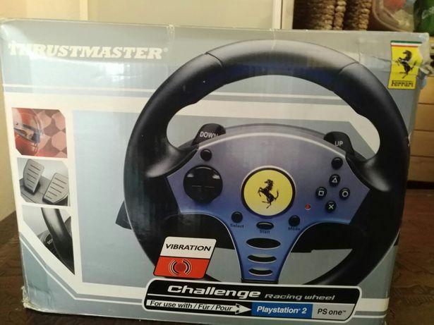 Conjunto pedais e volante Ferrari