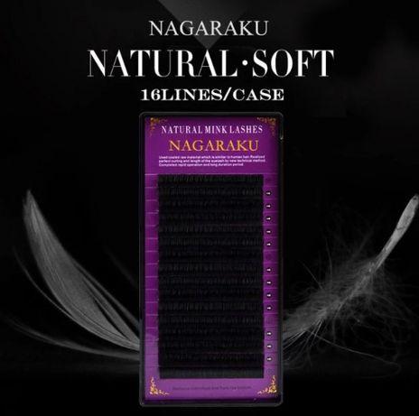 Чёрные ресницы Nagaraku одной длины и миксы