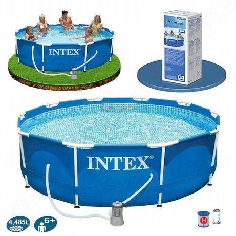 Круглый бассейн «Intex» с насосом.