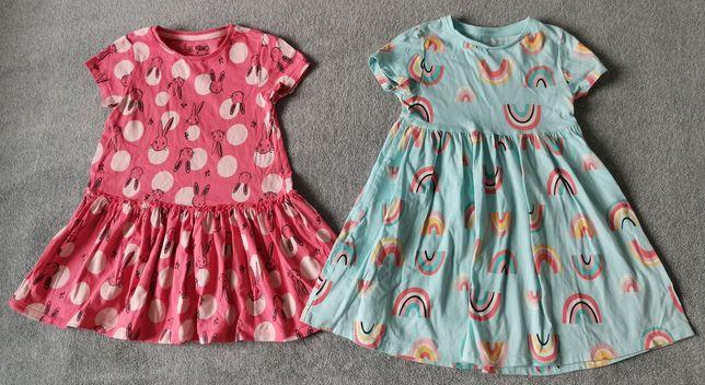 Sukienki_krótki rękaw  2szt. r. 116