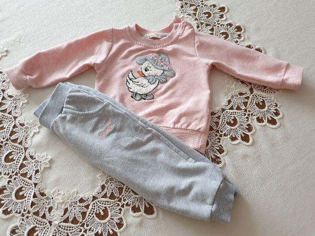 Dresik niemowlęcy (spodenki i bluza) w rozmiarze 80