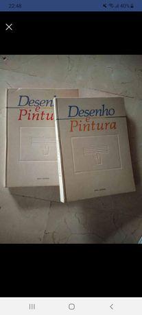 Conjunto de dois livros DESENHO E PINTURA