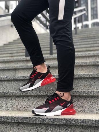 Мужские кроссовки Nike air max 270 найк черные с красным осение
