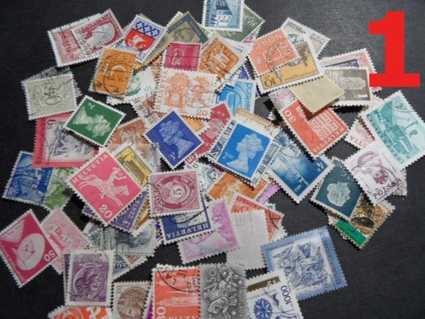 100 sztuk zestaw znaczki pocztowe kasowane