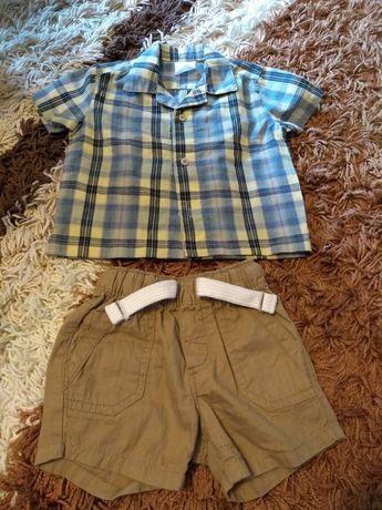 Zestaw na lato dla chłopca h&m spodenki 2 sztuki koszula