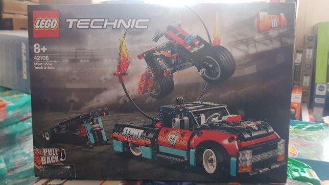LEGO Technic, klocki Furgonetka i Motocykl, 42106