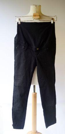 Spodenki Rybaczki H&M Mama XS 34 Czarne Spodnie Ciążowe Ciąża Mom Mum