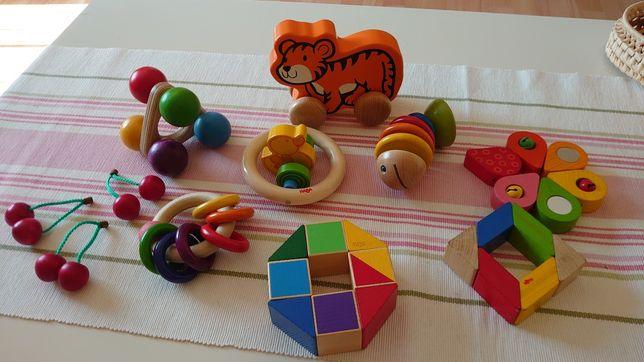 Zabawki drewniane dla niemowlaka HABA zestaw