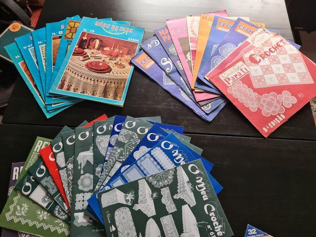 Varias revistas de crochet e outras