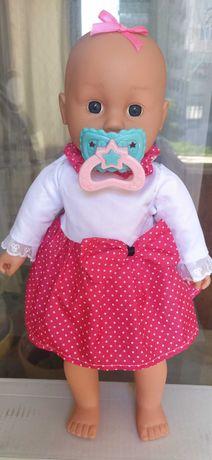 Кукла-пупс с соской. Высота 43 см.