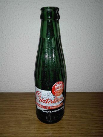 """Garrafas Antigas  refrigerante marca """"Cristalina"""""""