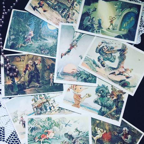 Детская картинка открытка винтаж