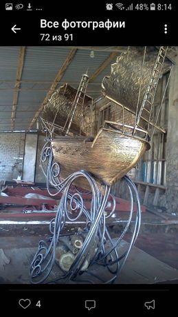Мангал кованный ручная работа Корабль