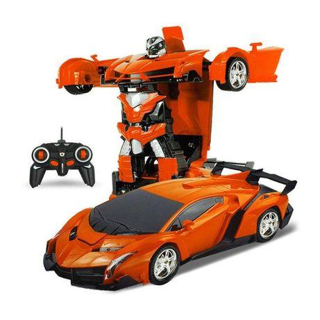Машинка трансформер с пультом Lamborgini на радиоуправлении Оранжевая