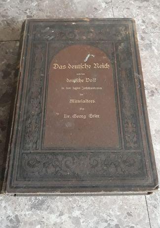 Zabytkowa książka Das Deutche Reich 1884r