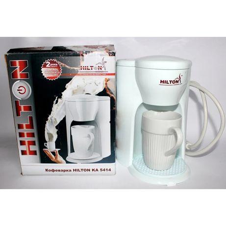 Кофемашина для дома Hilton KA-5414 White капельная кофеварка дл