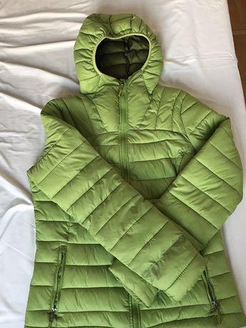 Zielona, pikowana kurtka Tchibo roz. S/M