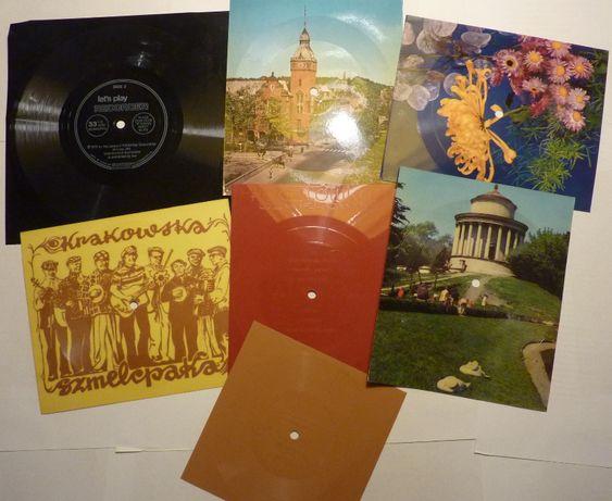 Siedem starych pocztówek dźwiękowych z lat 60 i 70tych XX wieku