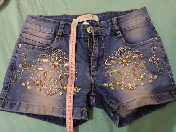 Шорты джинсовы короткие