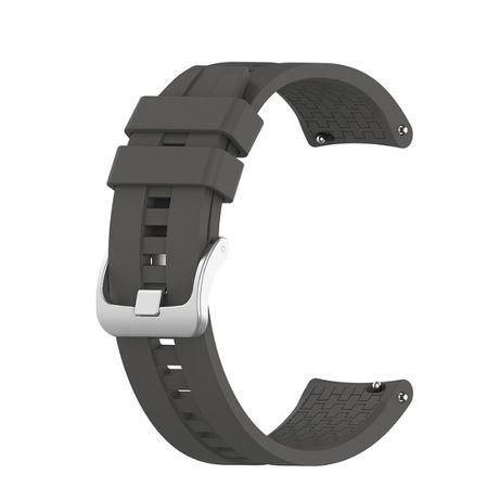 Pasek silikonowy do smartwatcha 22mm szary z teleskopami