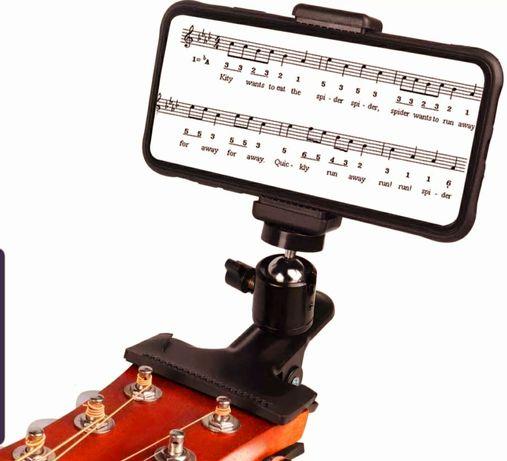 Suporte Telemóvel para Guitarra
