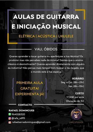 Aulas de Guitarra e Iniciação Musical