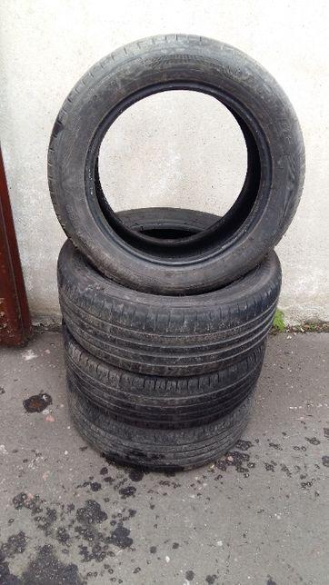 Komplet opon 205/55 R16 Continental Dunlop, po 1 sezonie, całość