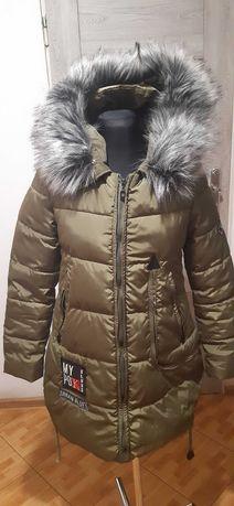 zimowa kurtka khaki