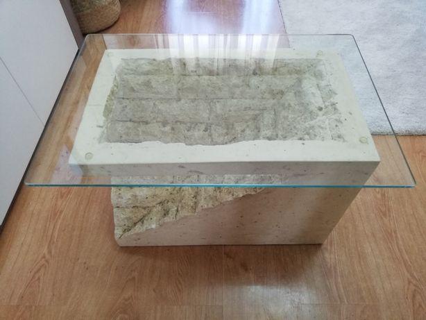 Mesa de centro de vidro temperado