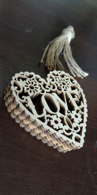 Сердечка, сердце из дерева, декор