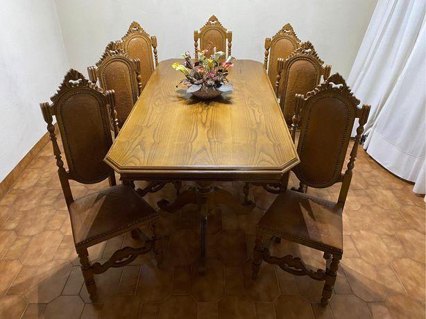 Moveis Sala - mesa /8 cadeiras /mesinhas