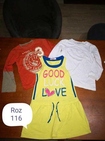 Bluzka 116  (2szt) + sukienka