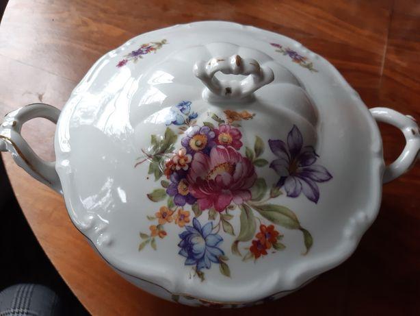 Śliczna waza z Wałbrzycha, Carl Tielsch, stara porcelana