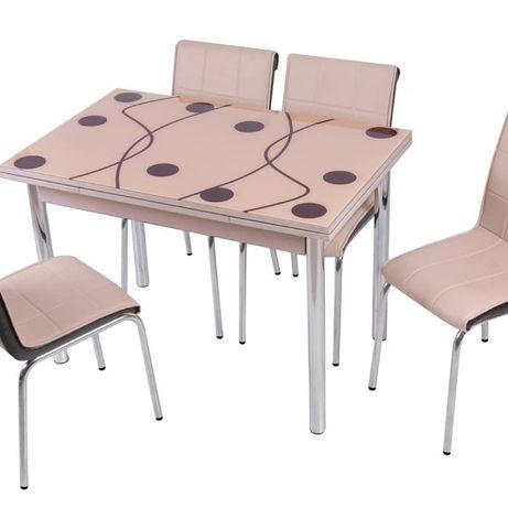 Столи обідні розсувні і 4 стільці в асортименті
