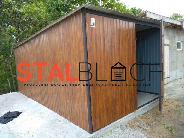 Garaż 3x5 Orzech, Drewnopodobny