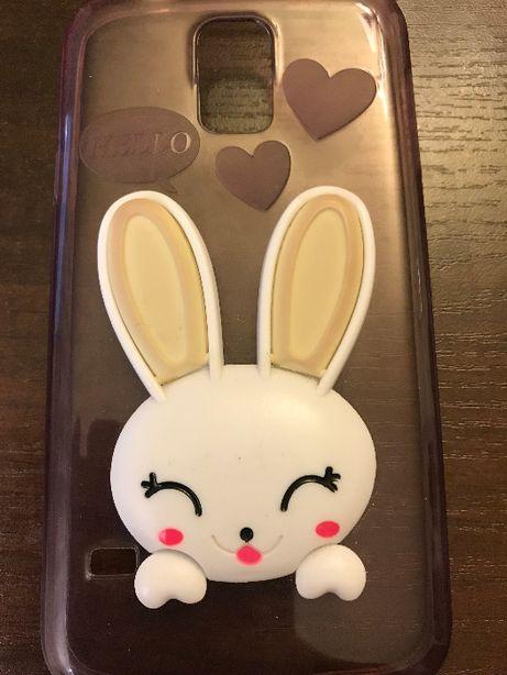 Zajączek silikon etui telefon Samsung S5