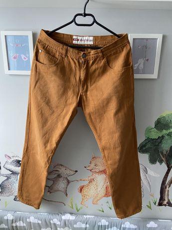 Spodnie Elade Chino - 34 - L - camel beż męskie chinosy