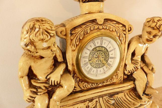 zegar kominkowy dzieci antyk
