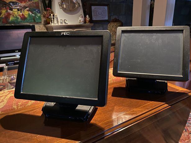 Computadores POS, impressora térmica e impressora de cassete.