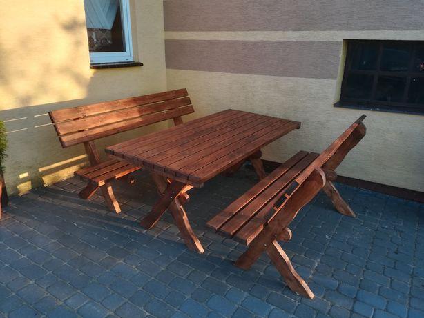 Meble ogrodowe sosnowe (stół ławki)