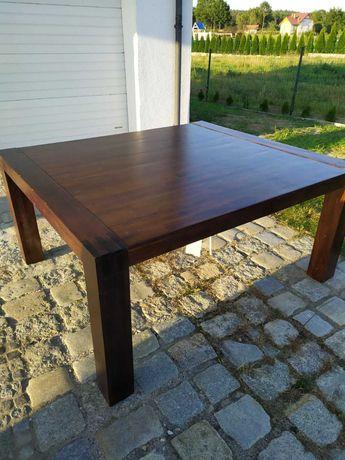 Piękny stół rozkładany 140x160 drewno ciężki