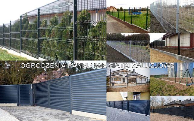 Ogrodzenia panelowe żaluzjowe murowane siatki montaż ogrodzeń palisada