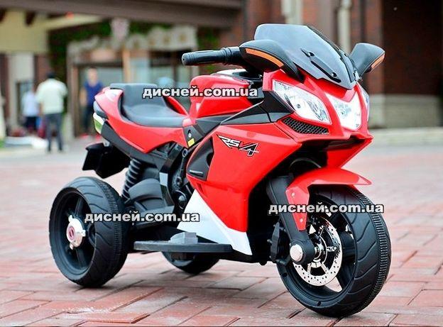 Детский электромобиль - мотоцикл 3912 красный, Дитячий електромобiль
