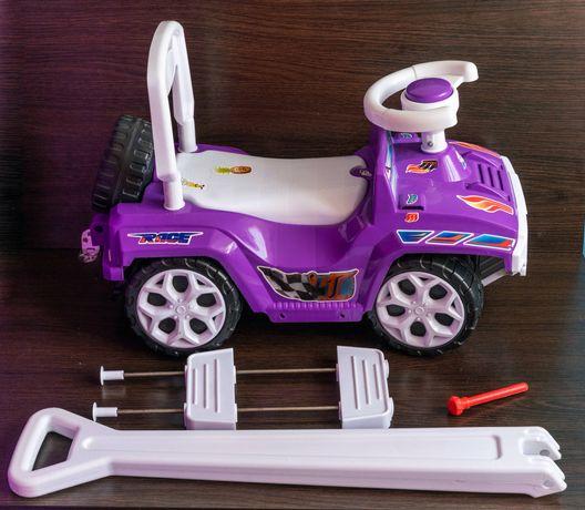 Машина детская толокар беговел каталка с багажником